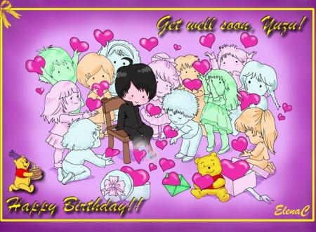 エレナさんのブログより「Happy Birthday Yuzu!」